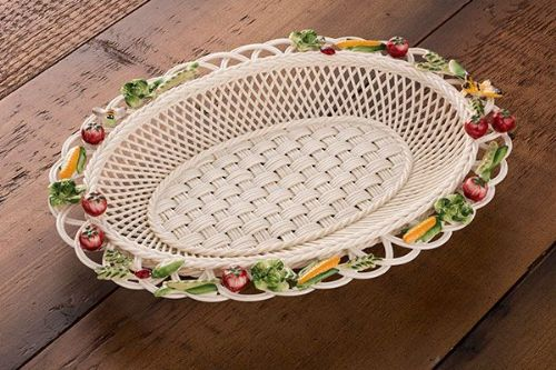 Belleek China Kitchen Garden Annual Basket